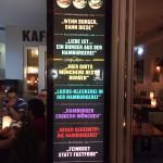 In der Hamburgerei gibts laut AZ die besten Burger der Stadt...
