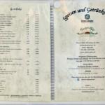 Die Getränkepreise für ein Helles oder ein Tafelwasser beginnen bei 3,40 Euro.