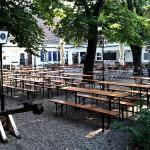 Der Biergarten im Wirtshaus am Hart.