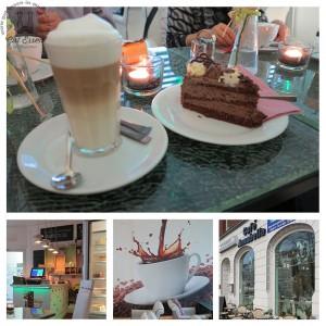 Schokotorte und Cappuccino im Café Annabella in Heide