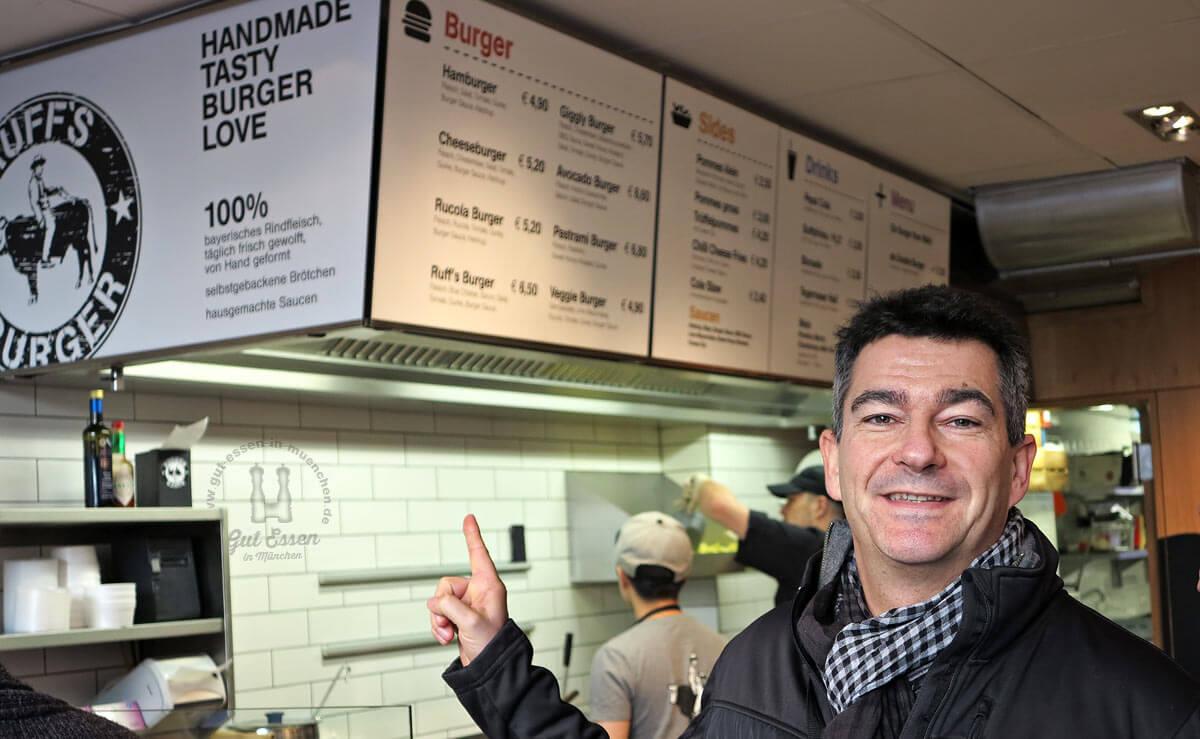 Gut Essen in München im Ruffs Burger