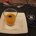 Gruß aus der Küche: Shot vom Muskat-Kürbis