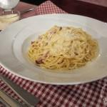 Spaghetti Carbonara im Locanda Busento