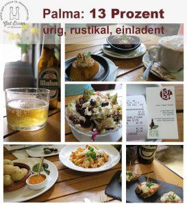 Gut essen in Palma: 13 Prozent – klein, günstig, gut