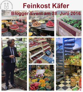 Feinkost Käfer hat am 28. Juni zum Blogger-Event geladen: Über die Wendeltreppe in der Obst- und Gemüseabteilung ging es zuerst nach oben auf den Dachgarten. Hier zieht sich die Küchencrew Kräuter für den Eigenbedarf …