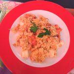 Rührei mit Mozzarella und Tomate (7,80 Euro)