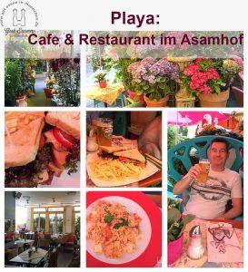 Gut essen im Cafe & Restaurant Playa im Asamhof