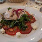 Vorspeise: Salat von Peccorino mit Lardo an altem Balsamico