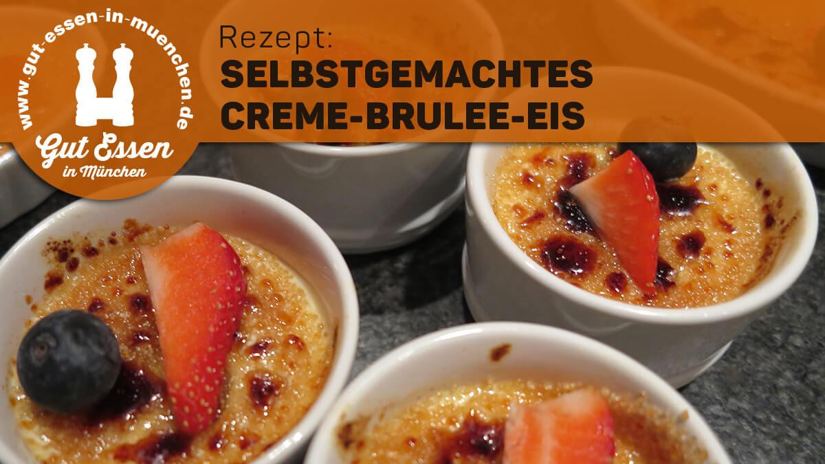 Rezept: Creme-Brulee-Eis selbstgemacht mit Tonkabohne