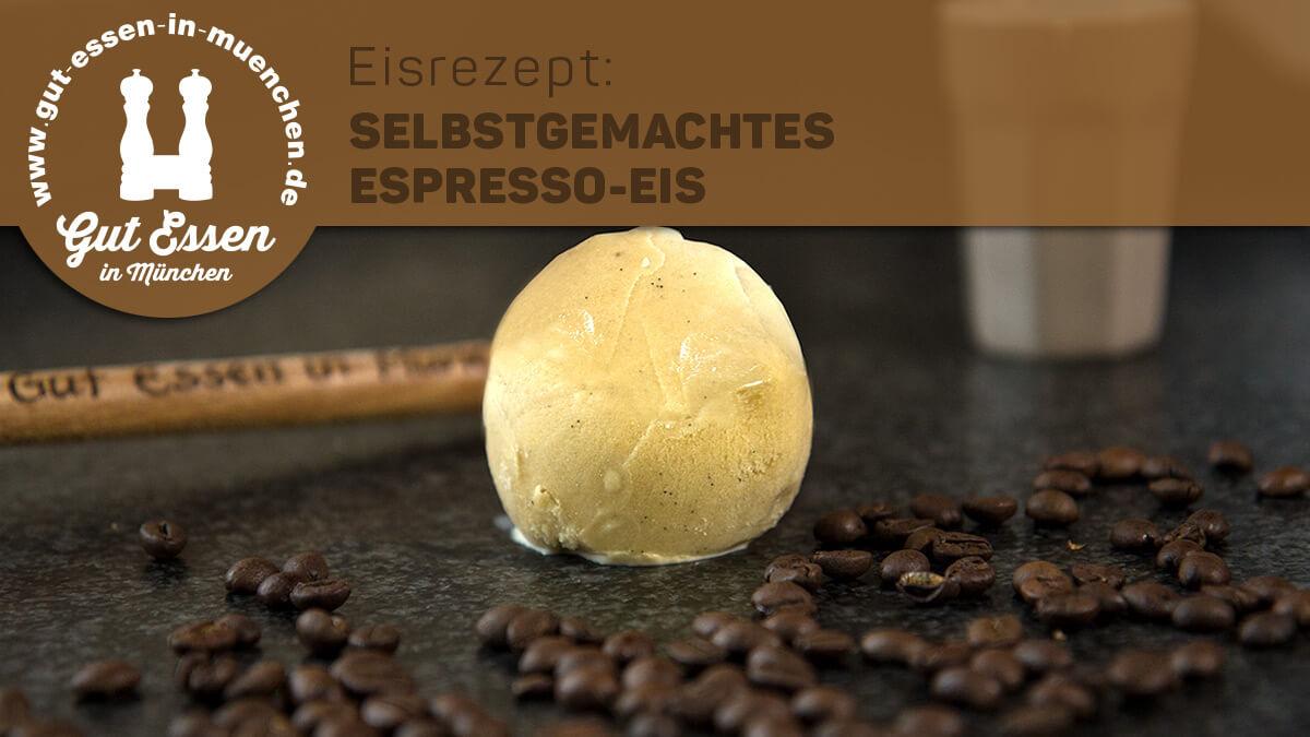 Selbstgemachtes Espresso-Eis