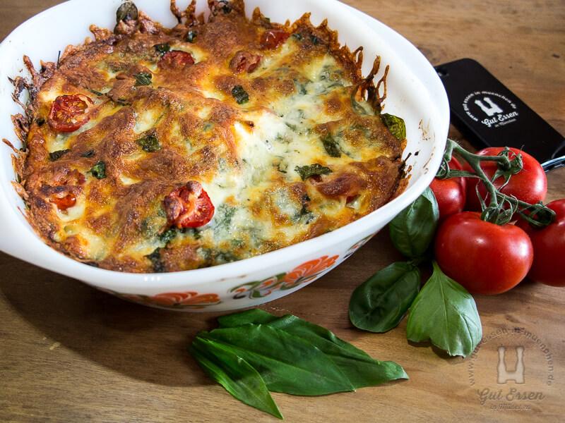 Spinat-Ricotta-Tomaten-Auflauf