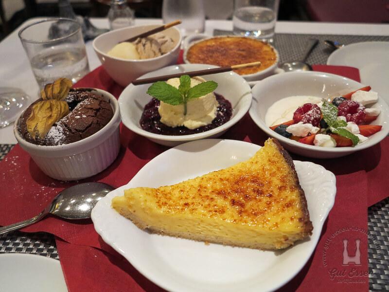 Dessertplatte im La Brasserie