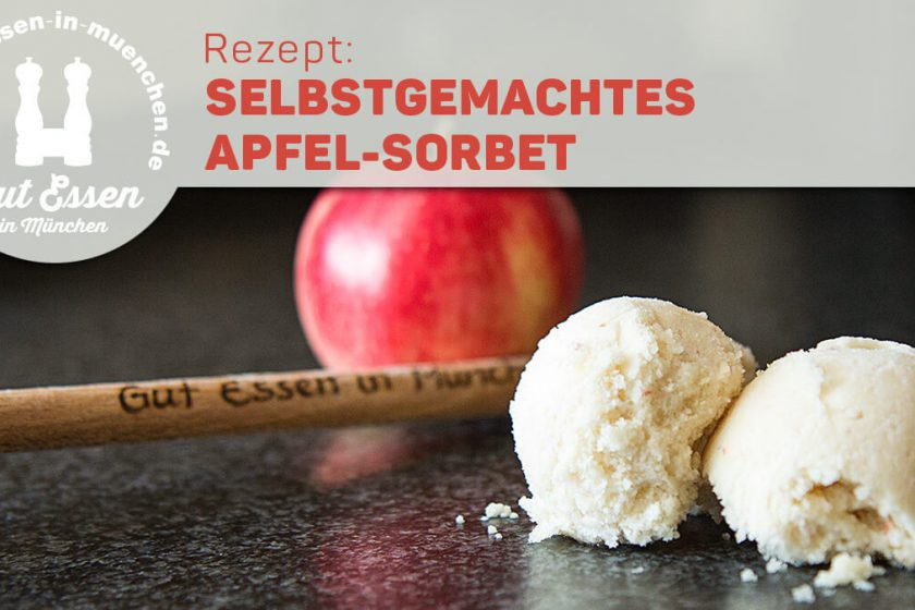 Eisrezept: Selbstgemachtes Apfel-Sorbet