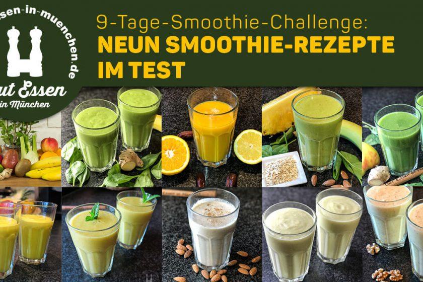 9-Tage-Smoothie-Challenge: Neun Smoothie-Rezepte im Test