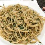 Einer meiner Favoriten: Spaghetti aglio, olio e peperoncino (8 Euro)