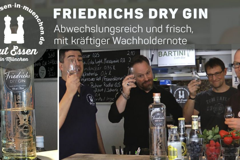 Friedrichs Dry Gin, abwechslungsreich und frisch mit viel Wachholder und Orangenaromen.