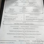 Mittagskarte im Sophia's Restaurant