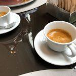 Der Espresso ist Teil des Lunch Menu
