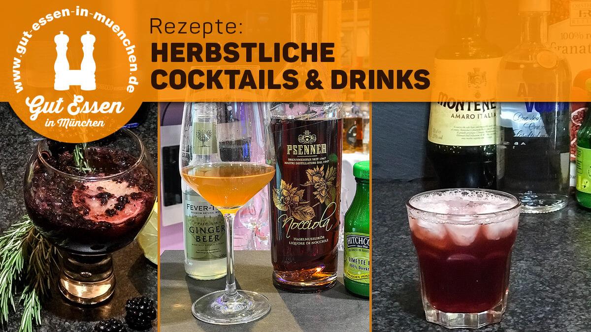 Rezepte für herbstliche Cocktails & Drinks