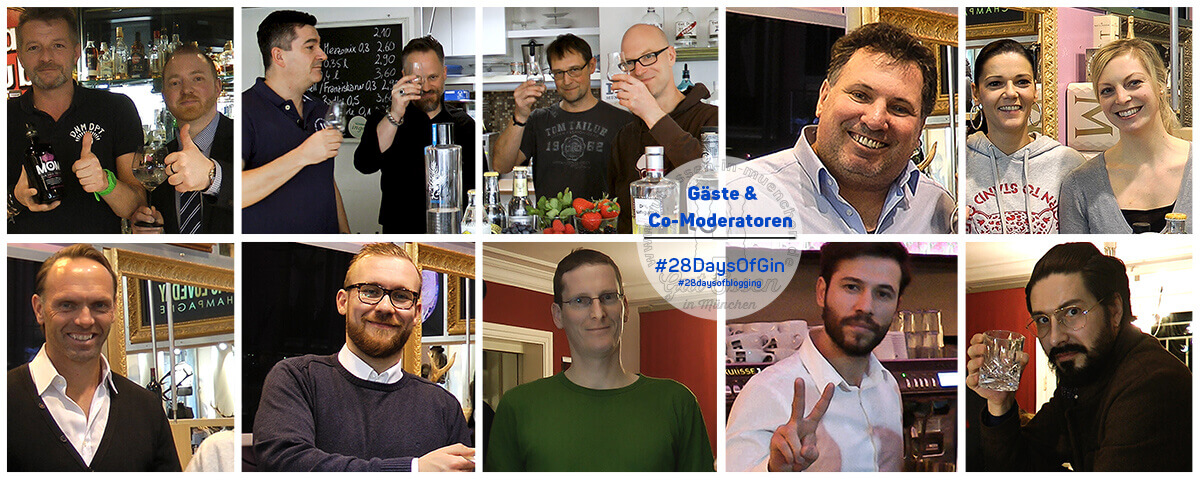 28 Days of Gin: Meine Gäste & Co-Moderatoren