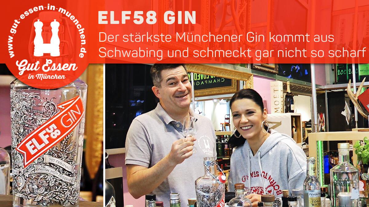 Elf58 Gin – Münchens stärkster Gin mit Bierbrand mazeriert