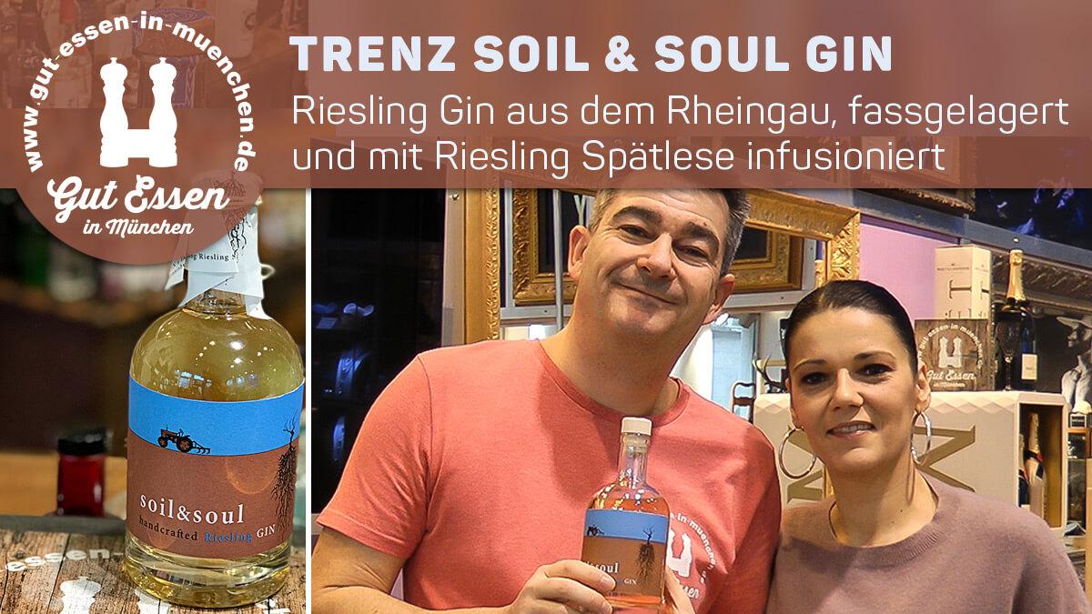 Trenz Soil & Soul – Riesling-Gin, fassgelagert und infusioniert, aus dem Rheingau