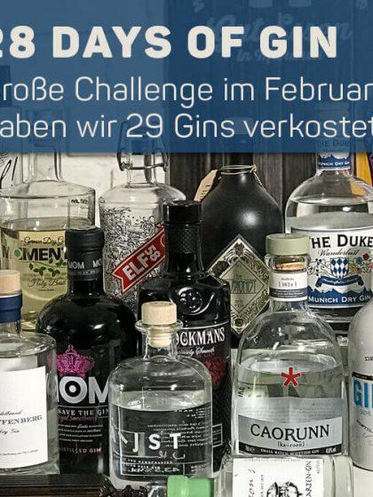 Februar-Challenge: 28 Days of Gin – täglich eine Gin-Verkostung