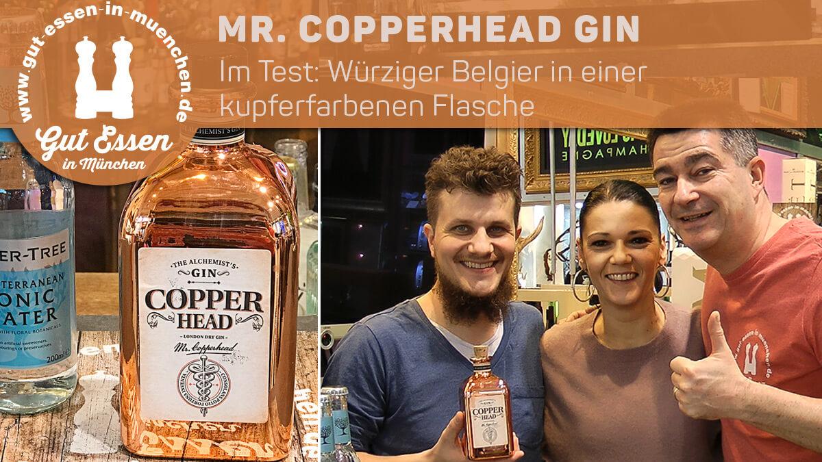 Mr. Copperhead Gin – Würziger Belgier in einer kupferfarbenen Flasche