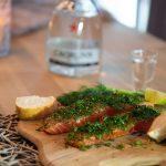 Lachs mit Gin beizen (a la Omoxx)