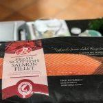 Frischer Lachs aus Schottland