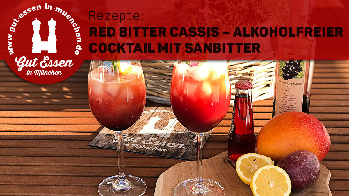 Red Bitter Cassis – Alkoholfreier Cocktail mit Sanbitter