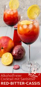 Red Bitter Casis: Alkoholfreier Cocktail mit Sanbitter