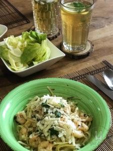 Pasta-Rezept: Zitronen-Knoblauch-Garnelen mit Linguine