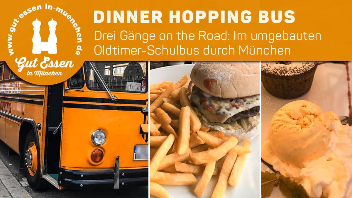 Dinner-Hopping-Bus: Drei Gänge »American Style« im Oldtimer-Schulbus