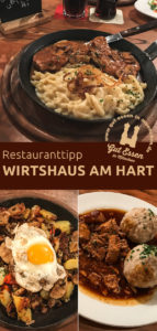 Das neue Wirtshaus am Hart bietet eine urig-rustikale Stube mit Hüttenflair und eine gute deutsch-bayrische Küche mit wechselnden Thementagen
