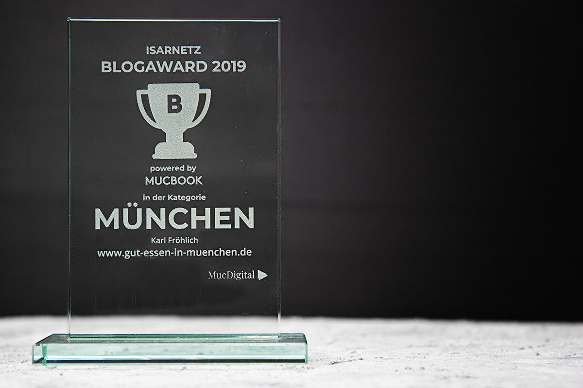 Bester München-Blog – Platz 1 beim Isarnetz Blog Award 2019