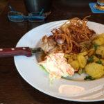 Holzfällersteak mit Bratkartoffeln (10,80€)