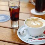 Ramazzotti (3,50 Euro) und Cappuccino (3 Euro)